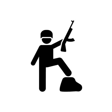 Military, helmet, soldiers, professions pictogram icon on white background