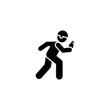Bomb, soldiers, man, military pictogram icon on white background