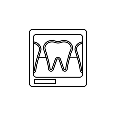 Dental x-ray line icon. Element of Medecine tools Icon. Premium quality graphic design. Signs, symbols collection, simple icon for websites, web design, mobile app on white background