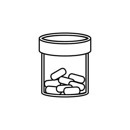 transparent medicine bottle line icon. Element of Medecine tools Icon. Premium quality graphic design. Signs, symbols collection, simple icon for websites, web design, mobile app on white background
