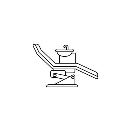 Dentist chair, orthodontics line icon. Element of Medecine tools Icon. Premium quality graphic design. Signs, symbols collection, simple icon for websites, web design, mobile app on white background