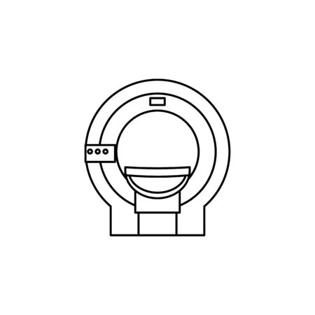 MRI Thin Line Icon. Element of Medecine tools Icon. Premium quality graphic design. Signs, symbols collection, simple icon for websites, web design, mobile app on white background Иллюстрация
