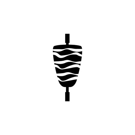 shaurma illustration. Element of meat product icon for mobile concept and web apps. Isolated shaurma icon can be used for web and mobile. Premium icon on white background Иллюстрация