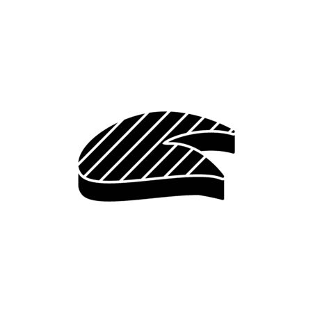 piece of fish illustration. Element of meat product icon for mobile concept and web apps. Isolated piece of fish icon can be used for web and mobile. Premium icon on white background