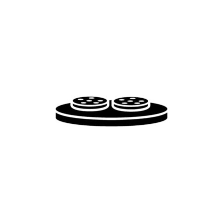 fried steak... illustration. Element of meat product icon for mobile concept and web apps. Isolated fried steak... icon can be used for web and mobile. Premium icon on white background Иллюстрация