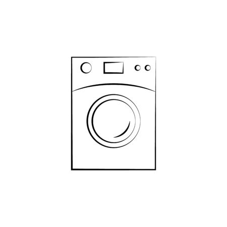 washing machine icon. Element of electrical devices icon. Archivio Fotografico - 137934452