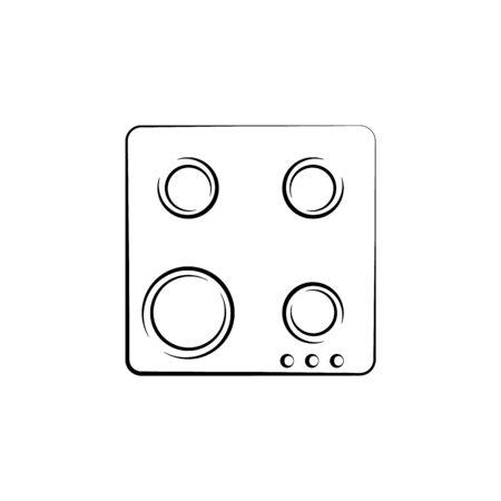 stove top view icon. Element of electrical devices icon. Archivio Fotografico - 137934839