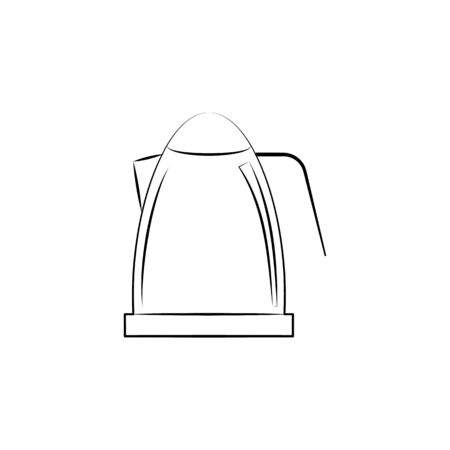 Electric Kettle icon. Element of electrical devices icon. Archivio Fotografico - 137934842
