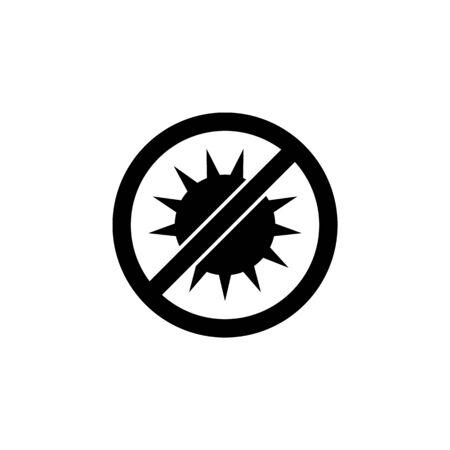 No exposure to sun icon. Element of logistics icon. Çizim