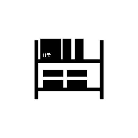 Warehouse shelves icon. Archivio Fotografico - 137937475