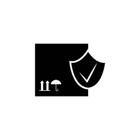 Box with check mark icon. Element of logistics icon. Archivio Fotografico - 137937476