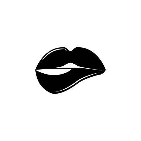 Lips icon. Archivio Fotografico - 137935215