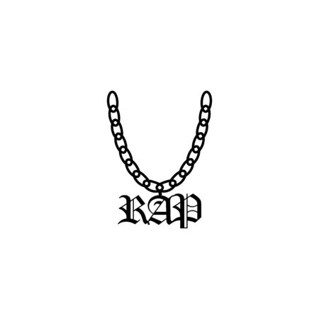 A chain with a symbol of rap. Çizim