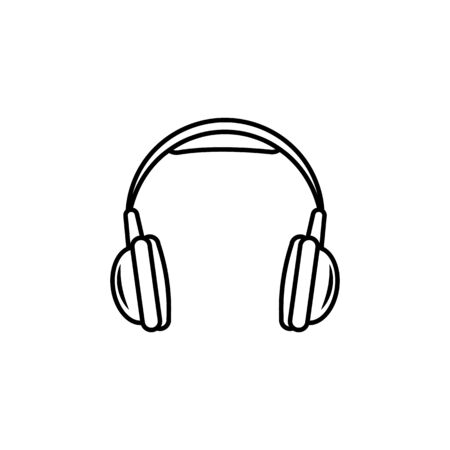Head phones Icon on white background Archivio Fotografico - 137937681