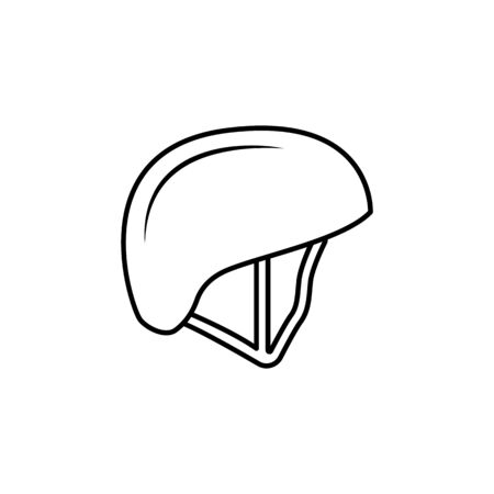 sport helmet icon on white background Archivio Fotografico - 137937687