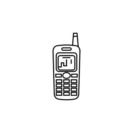 Old mobile phone icon on white background Archivio Fotografico - 137624257