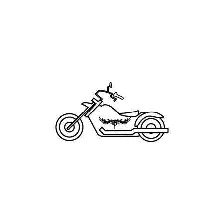 motor cycle icon on white background Archivio Fotografico - 137623861