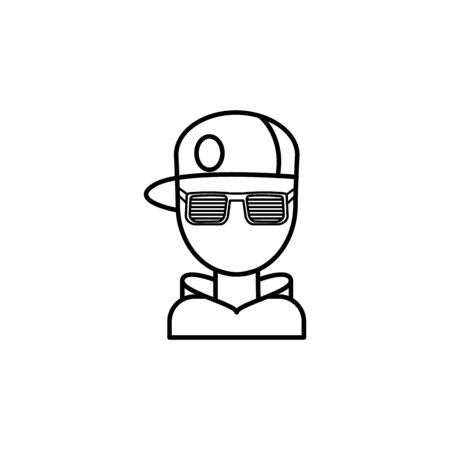 rapper vector icon. Modern, simple flat vector symbol for website or mobile app on white background Archivio Fotografico - 137624007