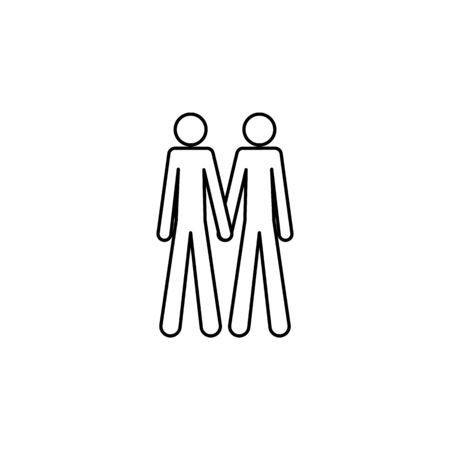 couple of gays icon. Element of LGBT illustration. Premium quality graphic design icon. Signs and symbols collection icon for websites, web design, mobile app on white background