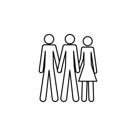 bisexual icon. Element of LGBT illustration. Premium quality graphic design icon. Signs and symbols collection icon for websites, web design, mobile app on white background 일러스트