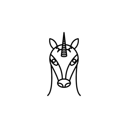 unicorn icon. Element of LGBT illustration. Premium quality graphic design icon. Signs and symbols collection icon for websites, web design, mobile app on white background Illustration