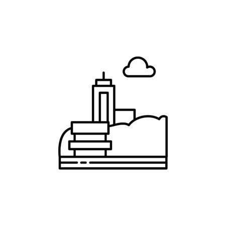 Bench, park, city outline icon. Element of landscapes illustration. Signs and symbols outline icon can be used for web,  mobile app, UI, UX 일러스트