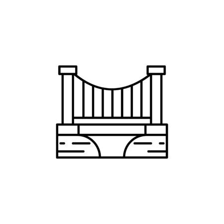 Bridge, river, landscape outline icon. Element of landscapes illustration. Signs and symbols outline icon can be used for web,  mobile app, UI, UX 스톡 콘텐츠 - 138094168