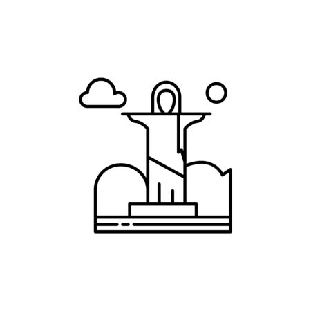 God the redeemer, cloud outline icon. Element of landscapes illustration. Signs and symbols outline icon can be used for web, mobile app, UI, UX 일러스트