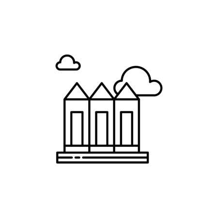 City, skyscrapers, building outline icon. Element of landscapes illustration. Signs and symbols outline icon can be used for web, mobile app, UI, UX