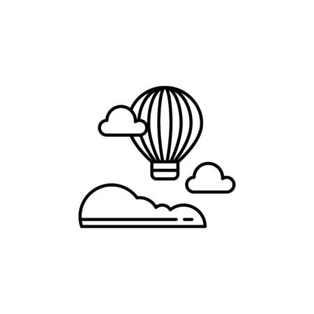 Hot air balloon outline icon. Element of landscapes illustration. Signs and symbols outline icon can be used for web,  mobile app, UI, UX