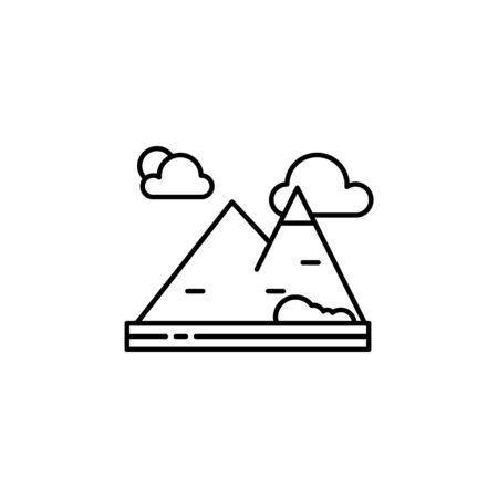 Mountain, nature, landscape outline icon. Element of landscapes illustration. Signs and symbols outline icon can be used for web,  mobile app, UI, UX