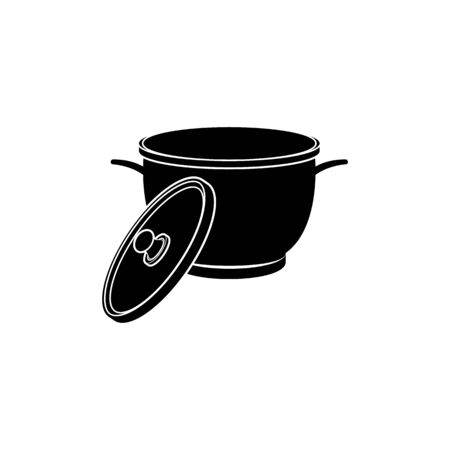 pan icon. Element of kitchenware icon. Premium quality graphic design. Signs, outline symbols collection icon for websites, web design, mobile app on white background Illustration