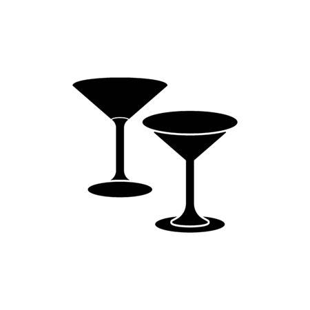 martini glasses icon. Element of kitchenware icon. Premium quality graphic design. Signs, outline symbols collection icon for websites, web design, mobile app on white background Ilustração