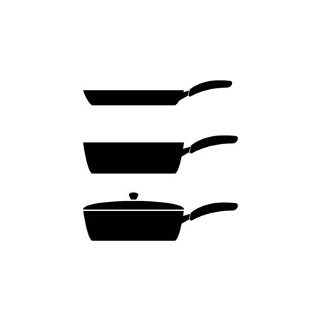 types of pans icon. Element of kitchenware icon. Premium quality graphic design. Signs, outline symbols collection icon for websites, web design, mobile app on white background 일러스트