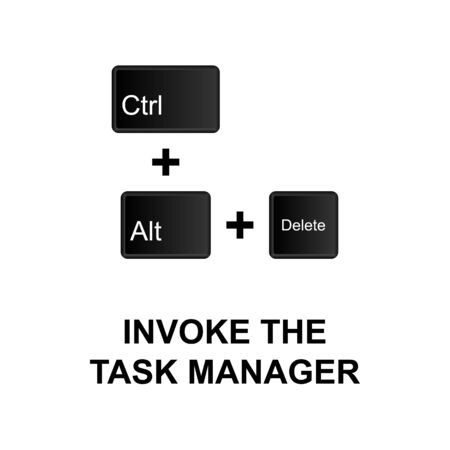 Keyboard shortcuts, invoke the task manager icon. Can be used for web, mobile app, UI, UX on white background
