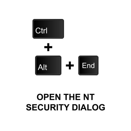 Keyboard shortcuts, open the NT security dialog icon. Can be used for web, mobile app, UI, UX on white background Vector Illustration