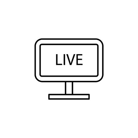 live broadcast on TV icon. Element of journalist for mobile concept and web apps illustration. Illustration for website design and development, app development on white background