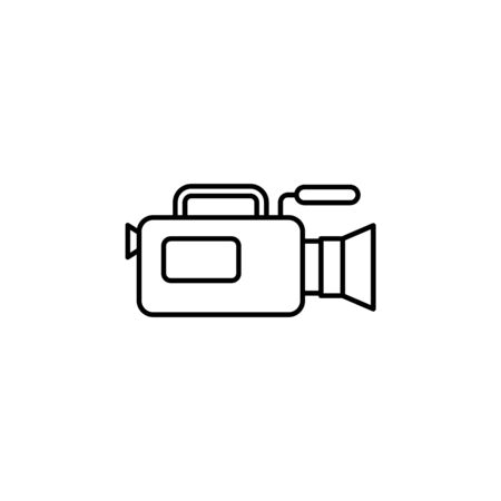 camera of journalist icon. Element of journalist for mobile concept and web apps illustration. Illustration for website design and development, app development on white background