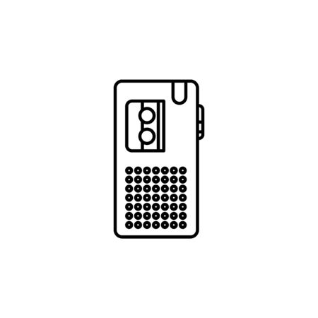 Dictaphone icon. Element of journalist for mobile concept and web apps illustration. Illustration for website design and development, app development on white background