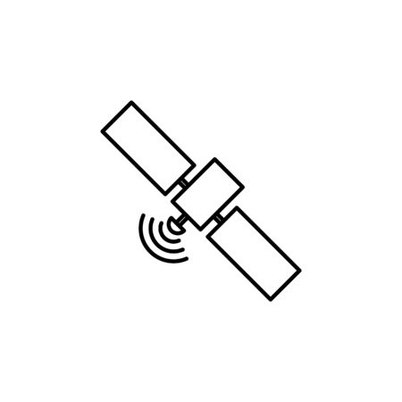 satellite icon. Element of journalist for mobile concept and web apps illustration. Illustration for website design and development, app development on white background