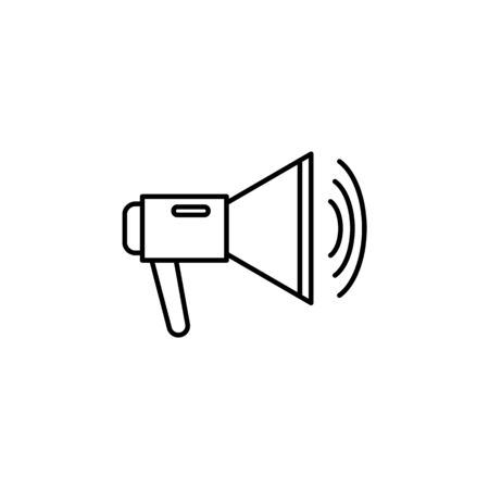 megaphone icon. Element of journalist for mobile concept and web apps illustration. Illustration for website design and development, app development on white background