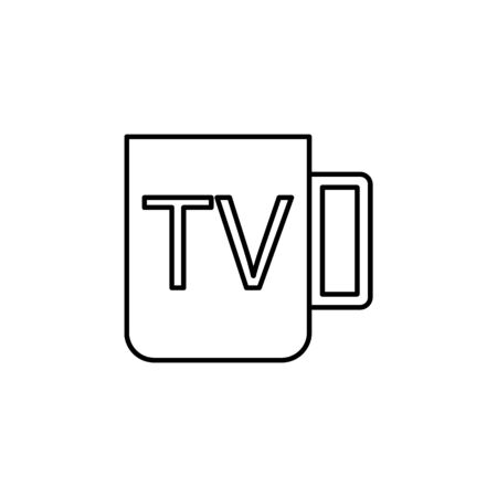 mug tv icon. Element of journalist for mobile concept and web apps illustration. Illustration for website design and development, app development on white background