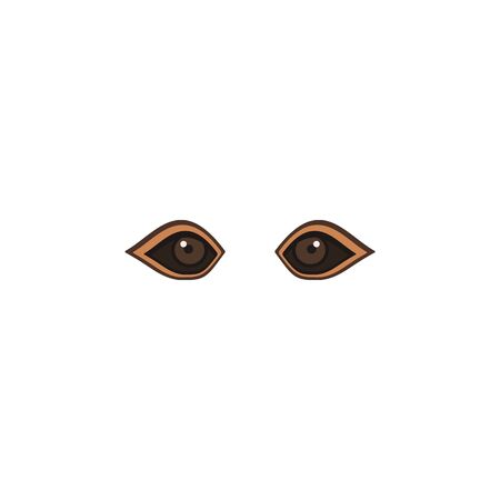 Animal eyes brown color icon. Elements of eyes multi colored icons. Premium quality graphic design icon on white background Ilustracja