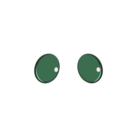 Animal eyes green color icon. Elements of eyes multi colored icons. Premium quality graphic design icon on white background