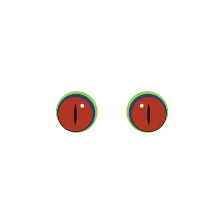 Animal eyes red color icon. Elements of eyes multi colored icons. Premium quality graphic design icon on white background Çizim