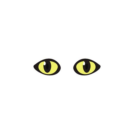 Animal eyes yellow color icon. Elements of eyes multi colored icons. Premium quality graphic design icon on white background