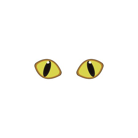 Cat eyes yellow color icon. Elements of eyes multi colored icons. Premium quality graphic design icon on white background
