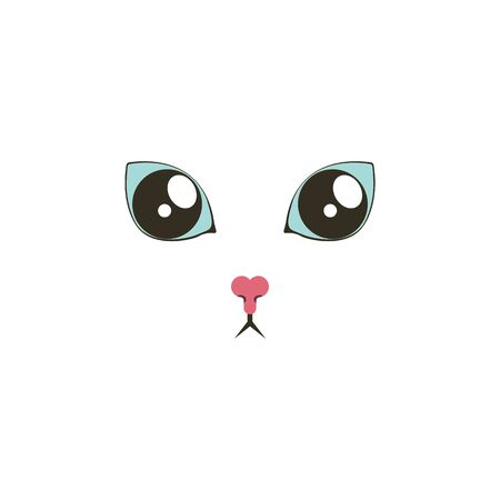 Sweet cat surprised eyes color icon. Elements of eyes multi colored icons. Premium quality graphic design icon on white background