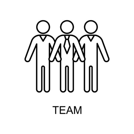 team line icon. Element of human resources icon for mobile concept and web apps. Thin line team icon can be used for web and mobile. Premium icon on white background Illustration