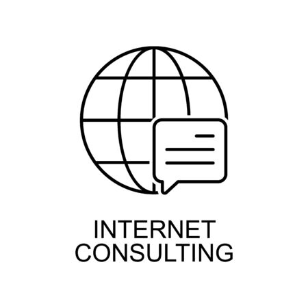 internet consulting line icon. Element of human resources icon for mobile concept and web apps. Thin line internet consulting icon can be used for web and mobile. Premium icon on white background